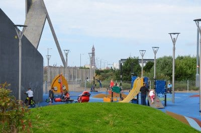 Play area at George Bancroft Park Blackpool