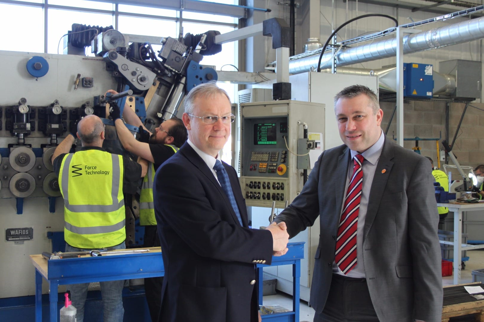 (L-R) Steve Williams, MD, Force Technology with Cllr Mark Smith, Blackpool Council's Cabinet Member for Business and Economic Development.