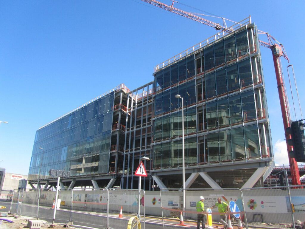 Council offices. 26.7.13 - Construction at Talbot Gateway Blackpool.