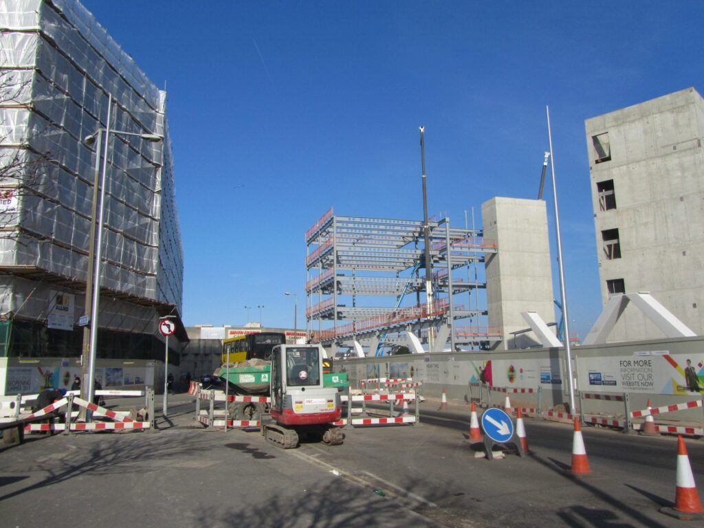 Photo taken 27.2.13. Construction at Talbot Gateway Blackpool
