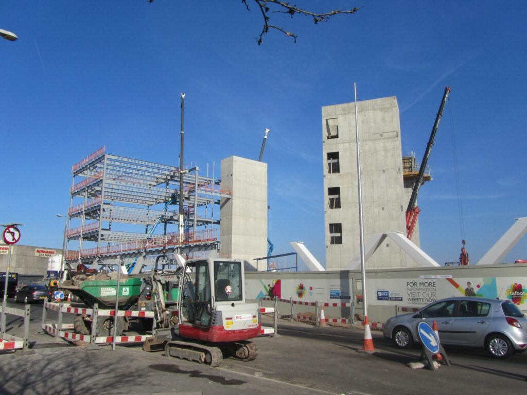 Construction at Talbot Gateway Blackpool. Photo: 27.2.13