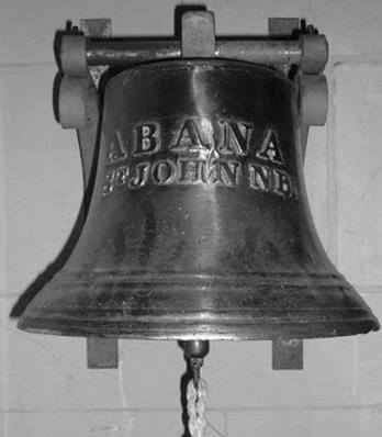 Ships bell from the Abana shipwreck, now in St Andrews Church Cleveleys