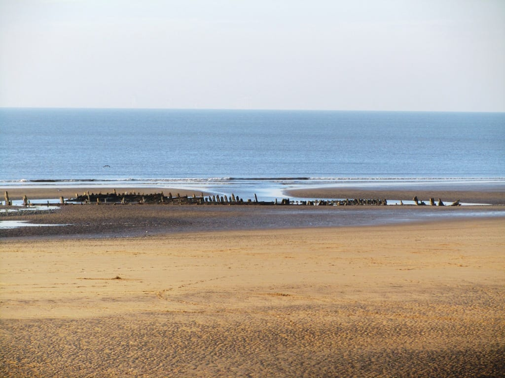 Abana Shipwreck on Blackpool beach at Anchorsholme near to Cleveleys