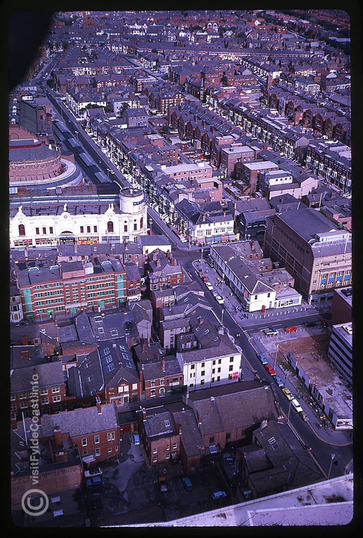 Aerial View looking over Blackpool Winter Gardens. Our Old Blackpool Photos - archives from Visit Fylde Coast