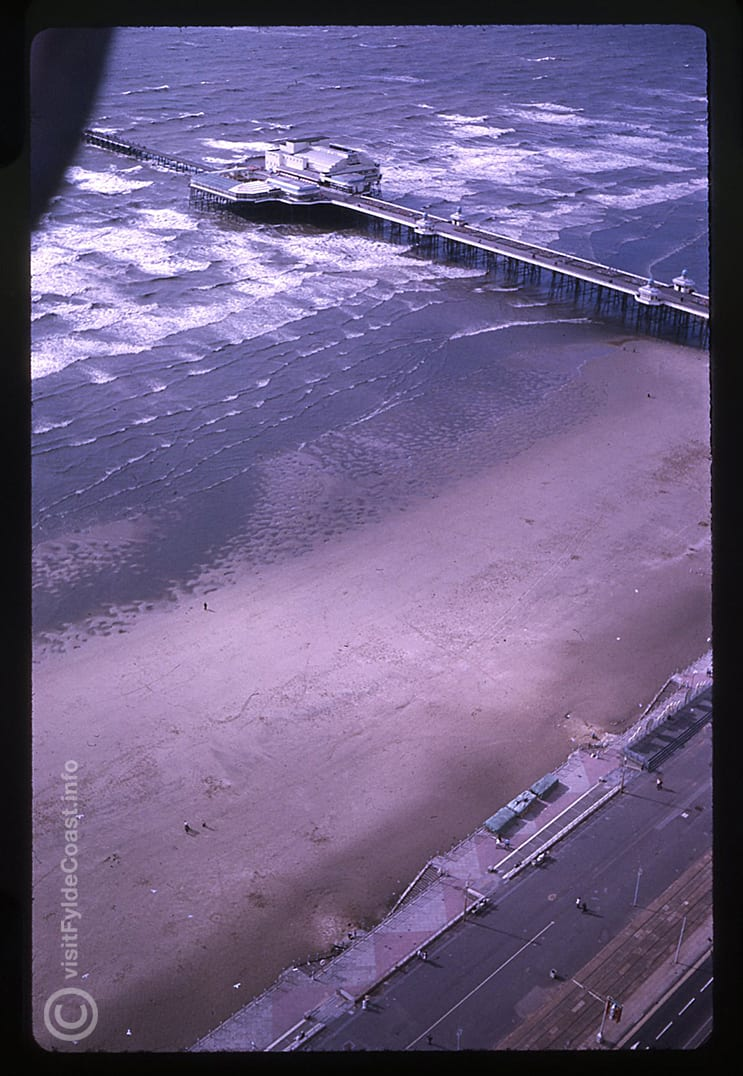 Aerial view looking to Blackpool North Pier. Our Old Blackpool Photos - archives from Visit Fylde Coast