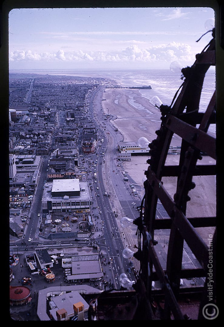 Blackpool South aerial view from top of the Tower. Our Old Blackpool Photos - archives from Visit Fylde Coast
