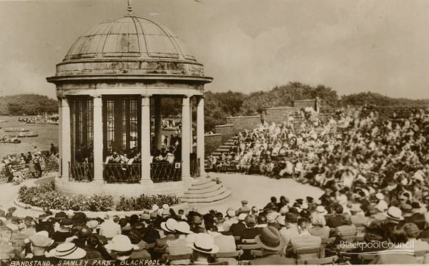 Postcard of Stanley Park Bandstand, posted 1946