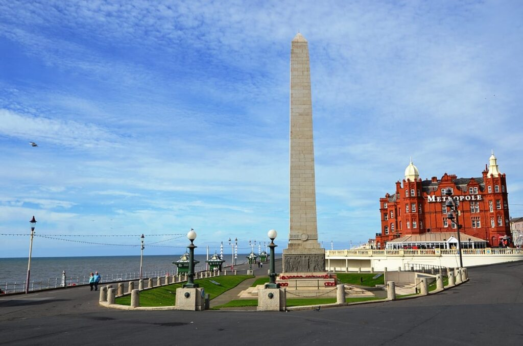 War Memorial and Cenotaph at Blackpool north shore