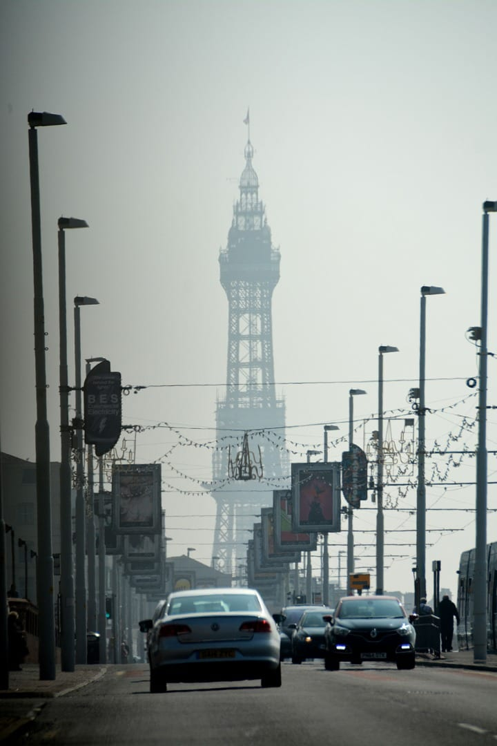 Blackpool Promenade near the Imperial Hotel