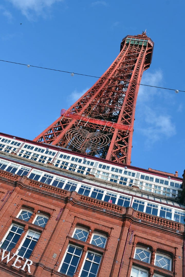 Blackpool Tower almost unveiled 30.3.16