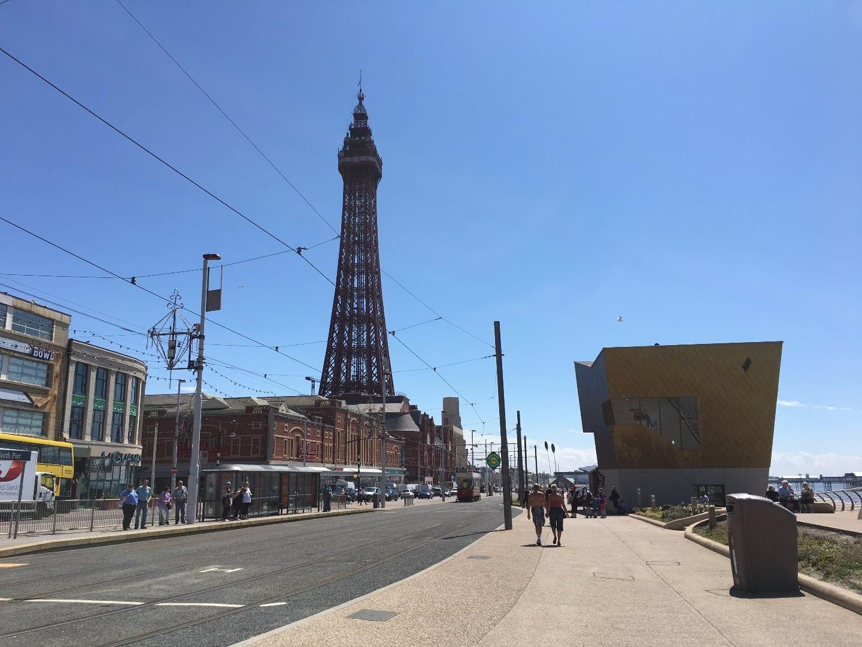 Big bin on Blackpool promenade
