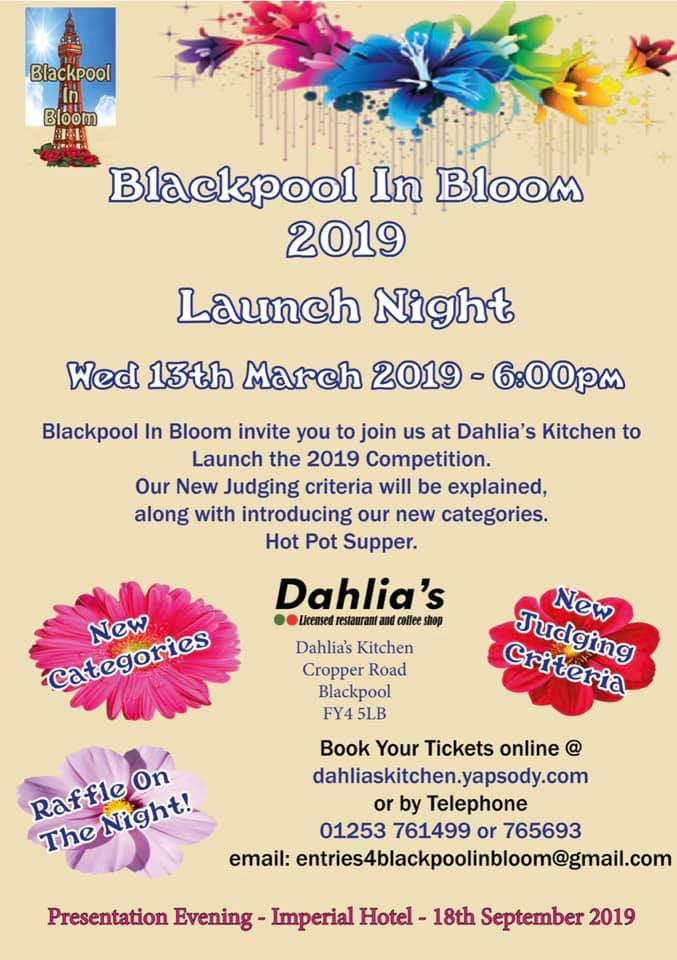 Blackpool in Bloom Launch event 2019