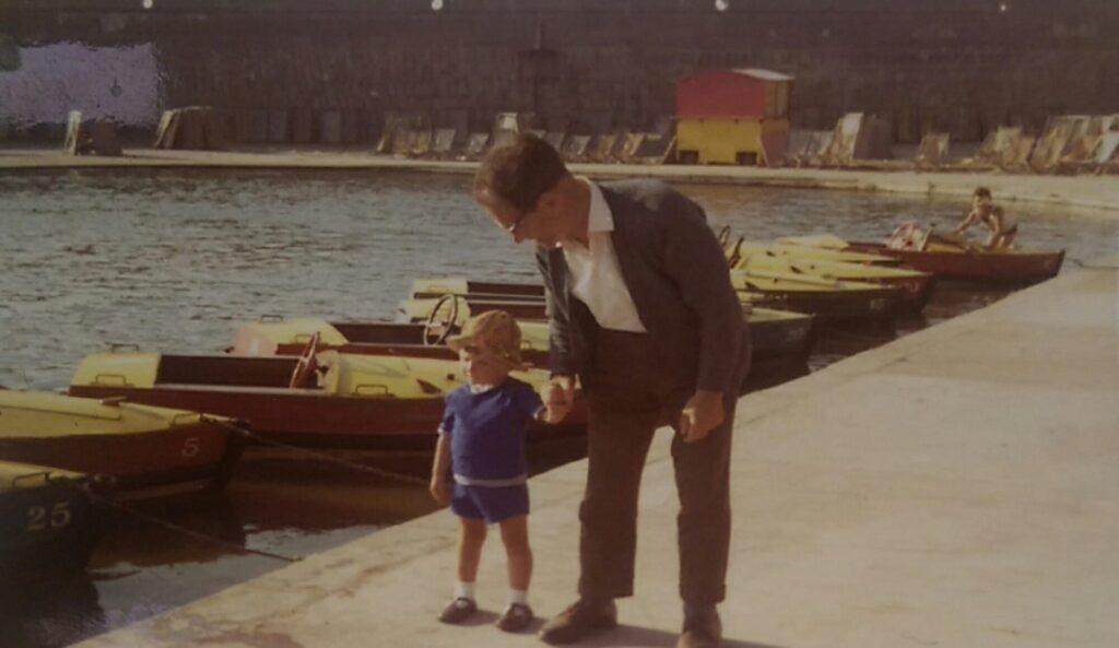 Blackpool Boating Lake in 1972, David Coulson and dad