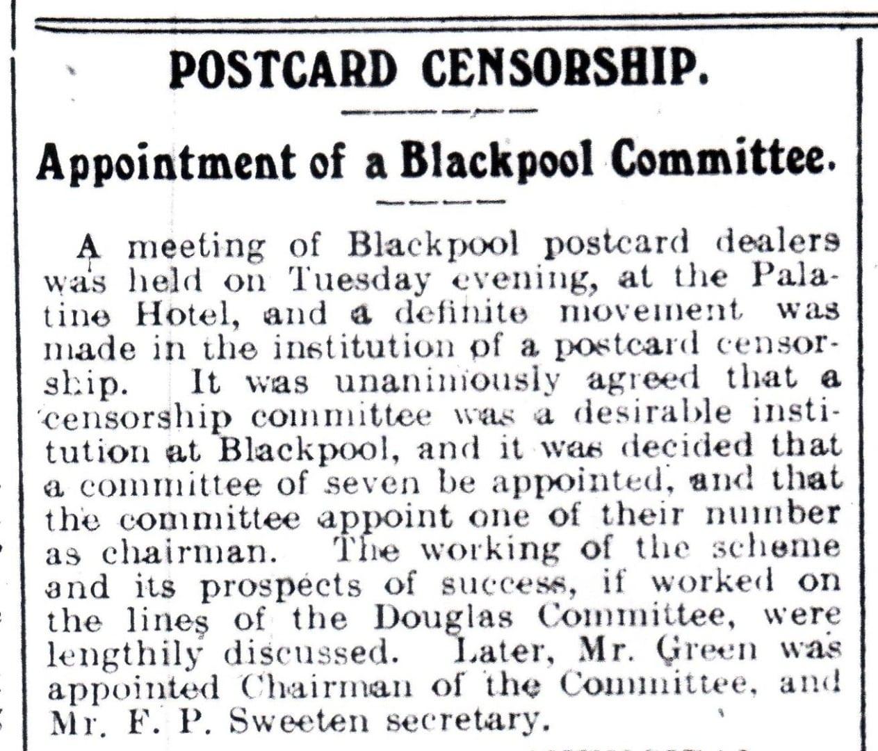 Blackpool Herald 1912