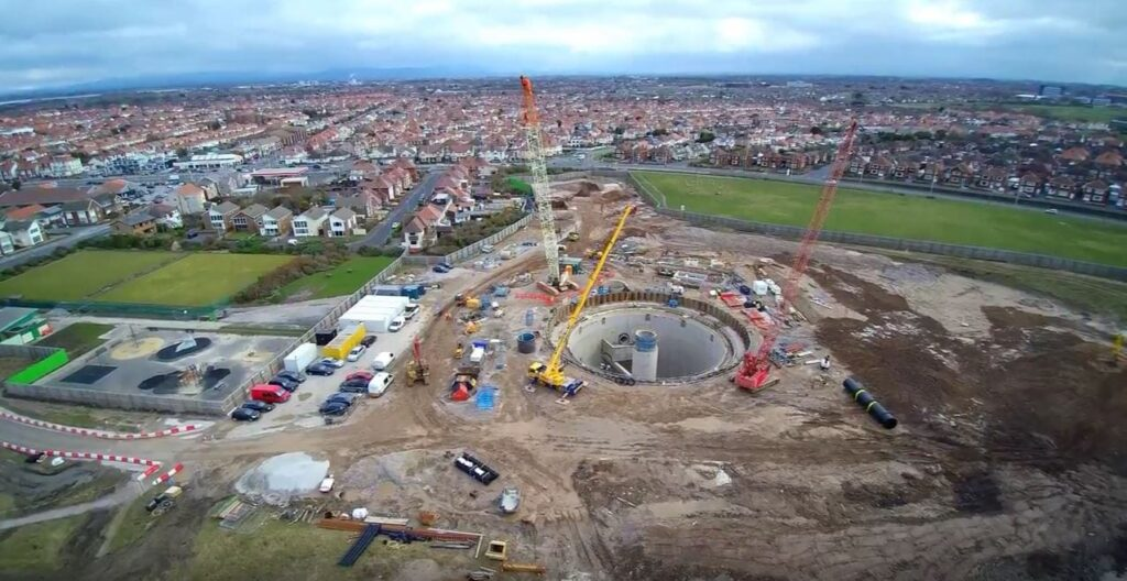 Storm water storage tank almost completed, works at Anchorsholme Park