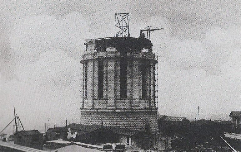 Construction of Warbreck Water Tower, photo: Andy Ball