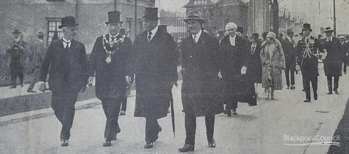 Earl of Derby attending the opening of the park