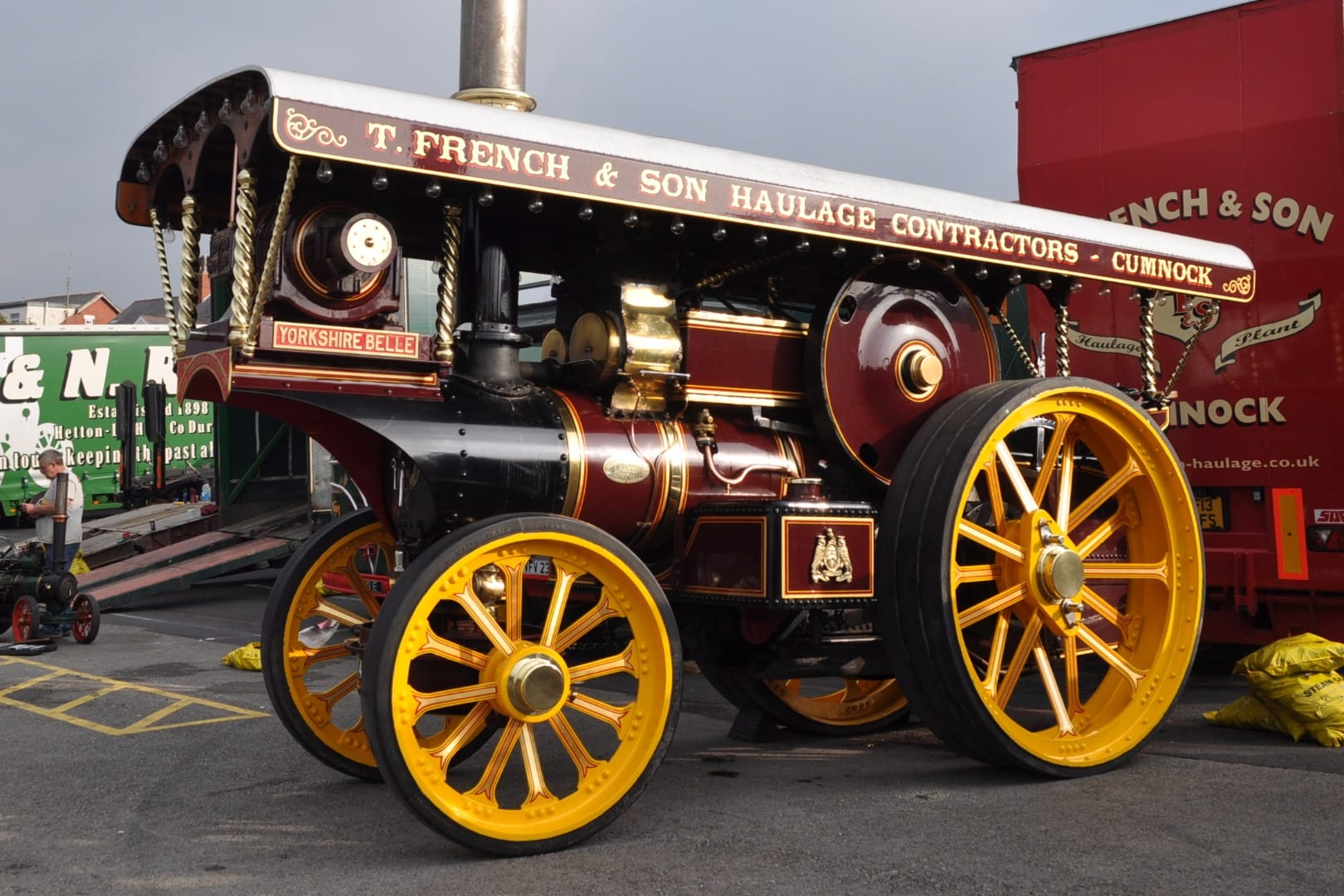 Fowler Showman's Engine No. 14321, dating from 1916 , named 'YORKSHIRE BELLE'