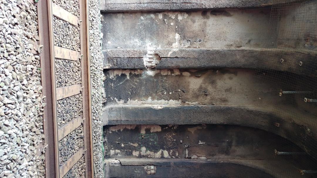 State of repair at Harrowside Bridge, Blackpool