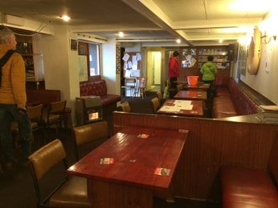 Inside the Fylde Boat Angling Club House