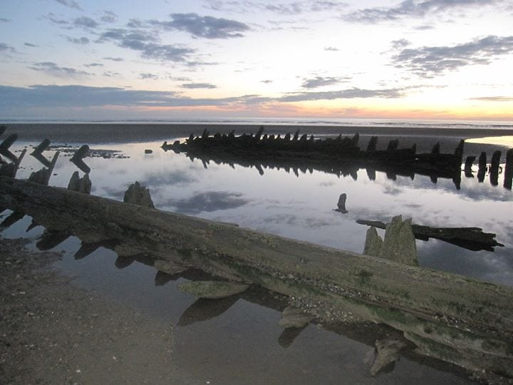 Jean Parker shared her photo of the Abana shipwreck taken in 2012 on Thornton Cleveleys Past