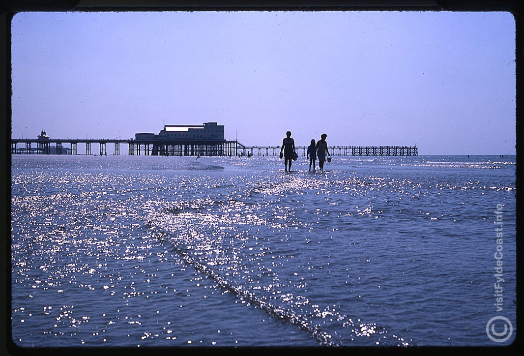 Blackpool North Pier with the fishing jetty. Our Old Blackpool Photos - archives from Visit Fylde Coast