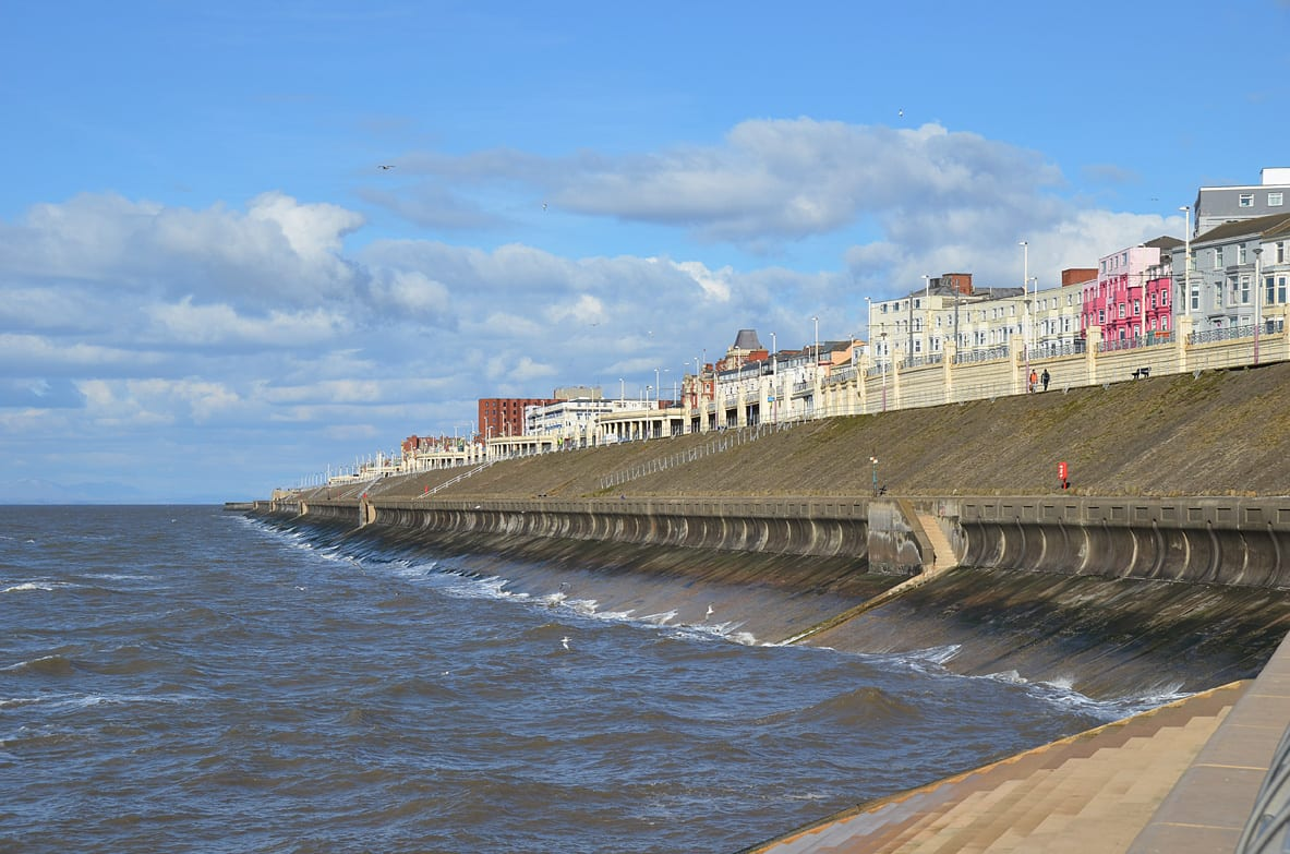 Blackpool Seafront looking along Blackpool North Shore