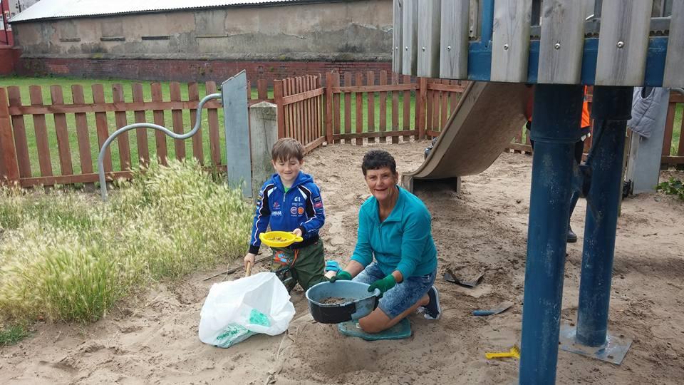 Sifting sand boy & Avril Braithwaite