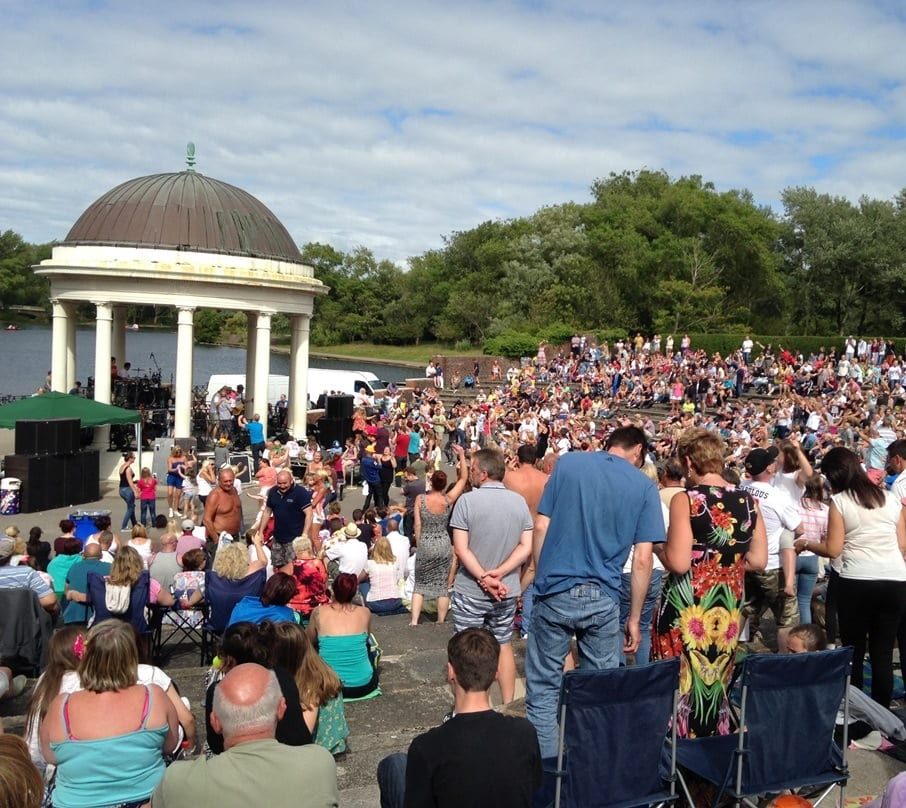 Free Events and concerts each weekend at Blackpool Stanley Park Bandstand