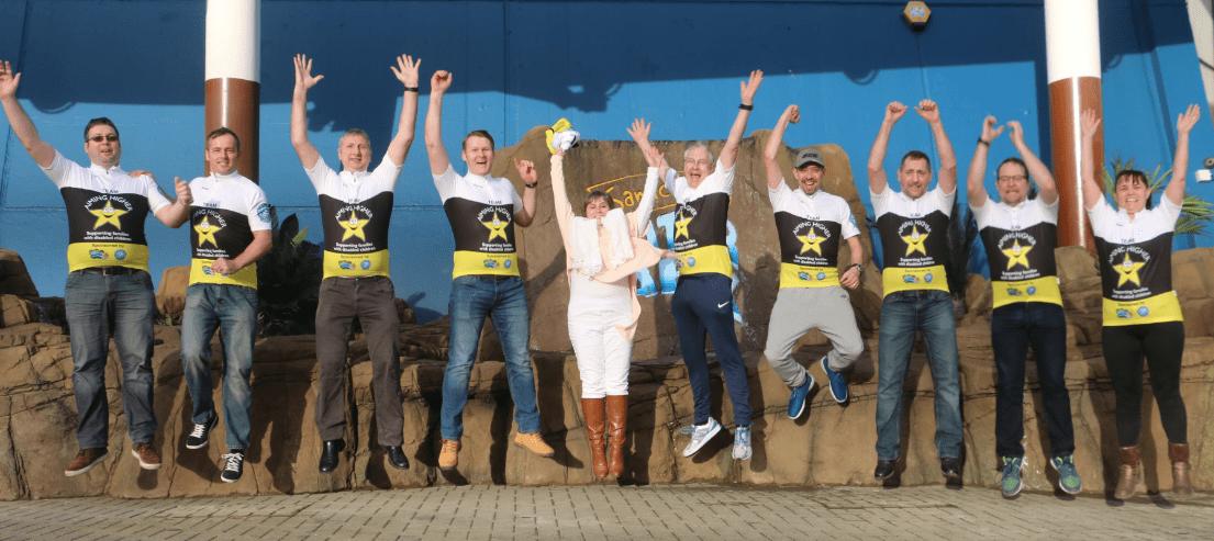 Team Aiming Higher Charity bike ride