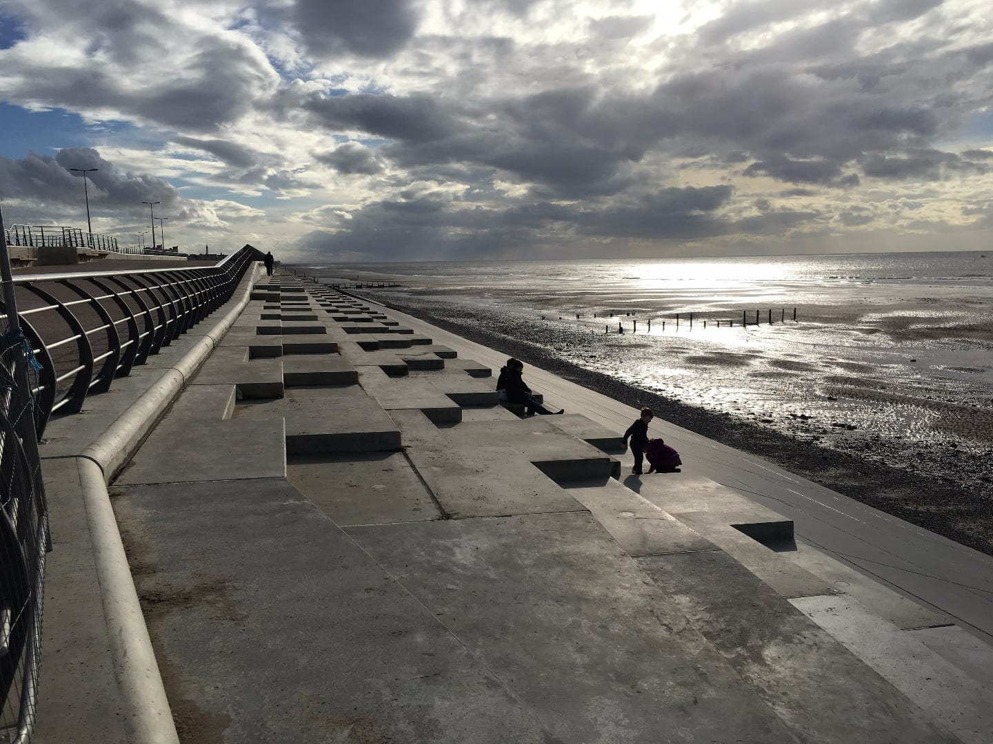 Anchorsholme sea defences on Blackpool seafront near Cleveleys