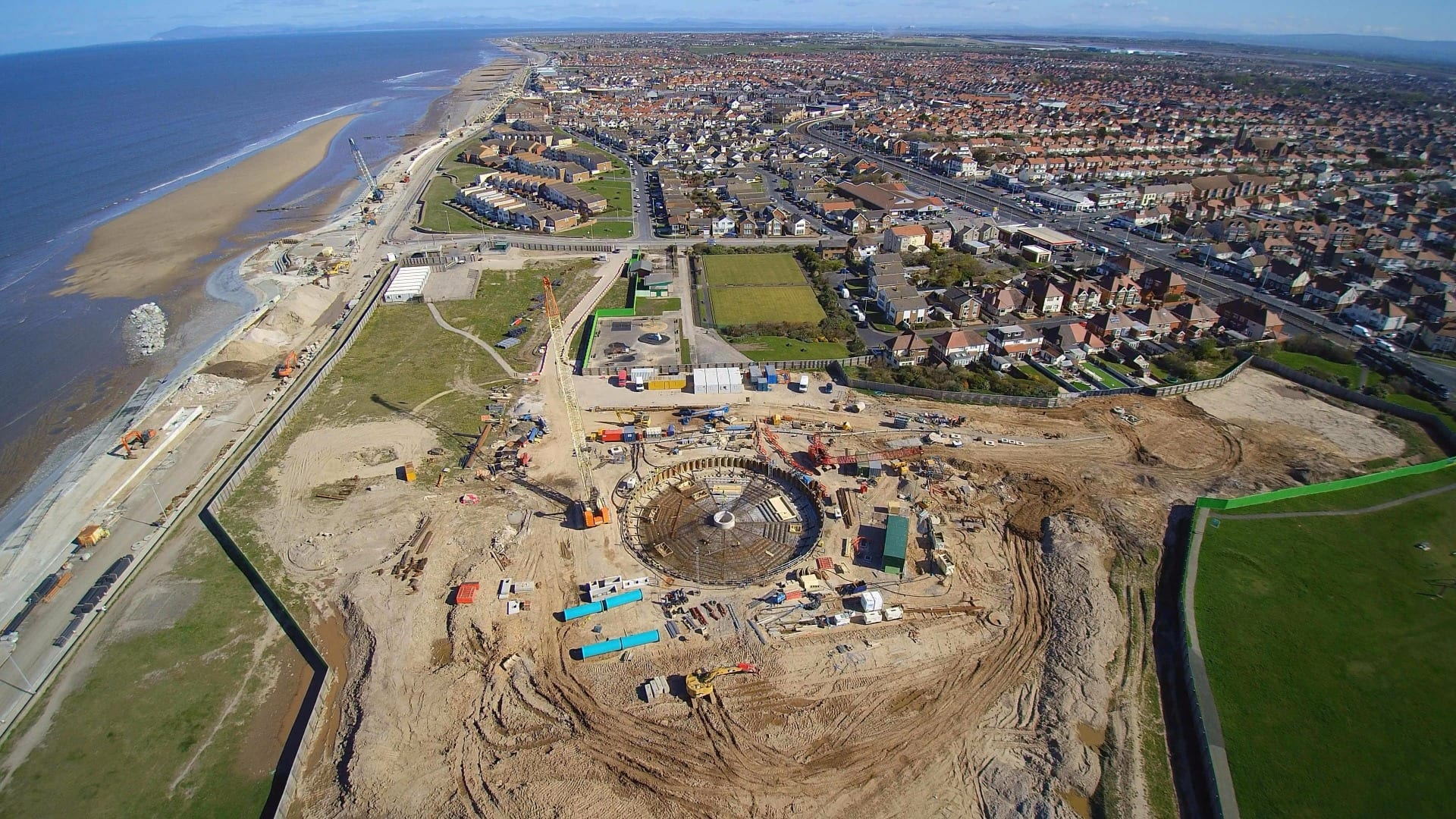 Aerial view of Anchorsholme in May 2016, from Dave Woodhall