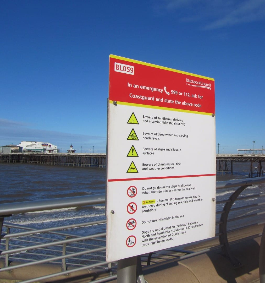 Information about dogs on beaches in Blackpool