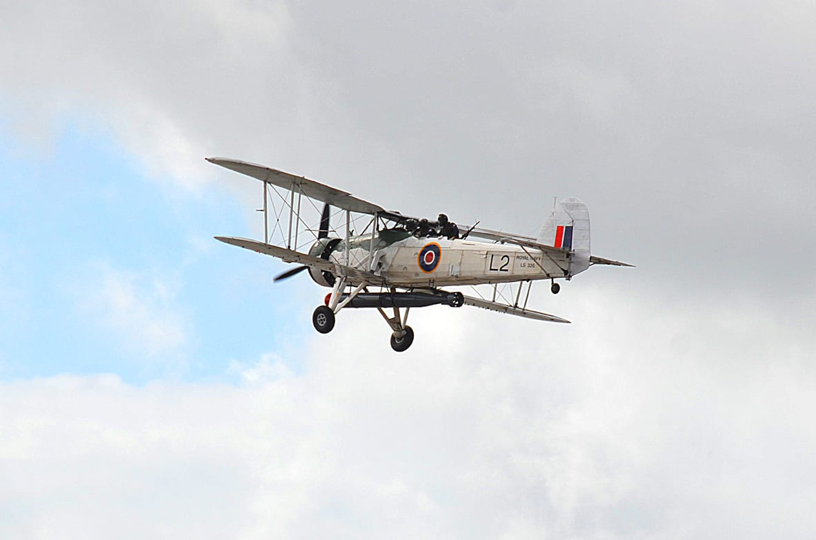 Biplane at Blackpool Airshow