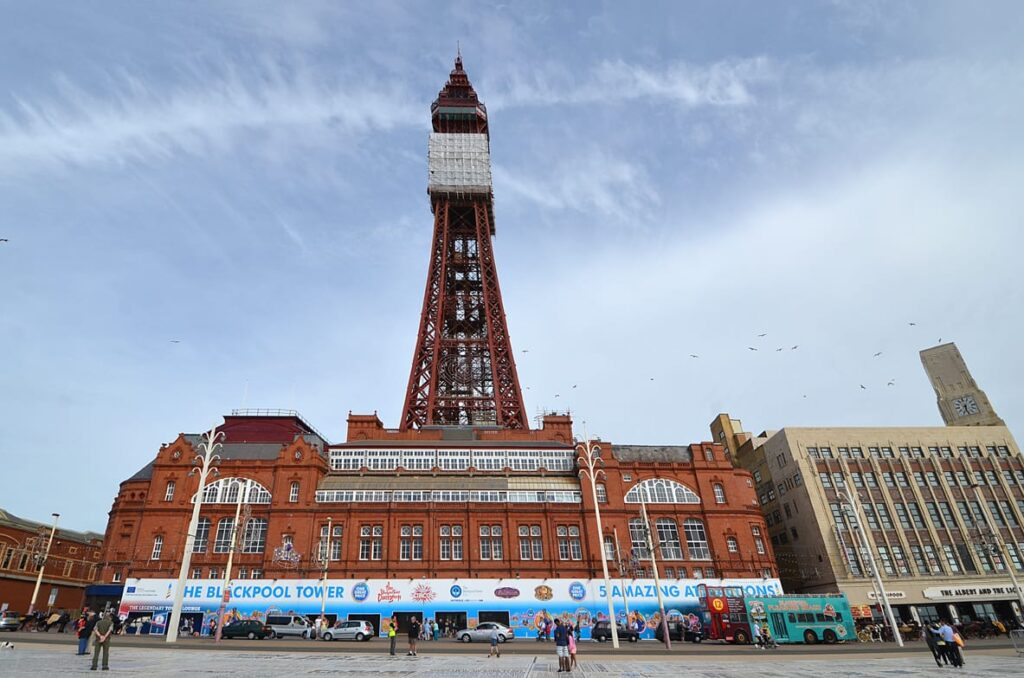 Frontage of the Blackpool Tower building in 2013