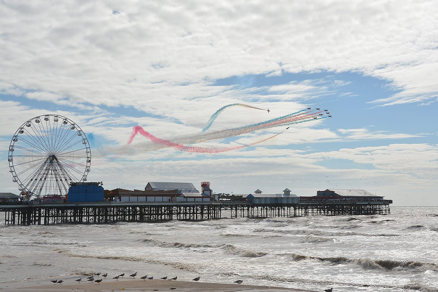 Red Arrows at Blackpool Airshow 2017