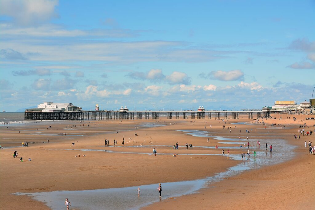Blackpool Beaches, second best shoreline in the world