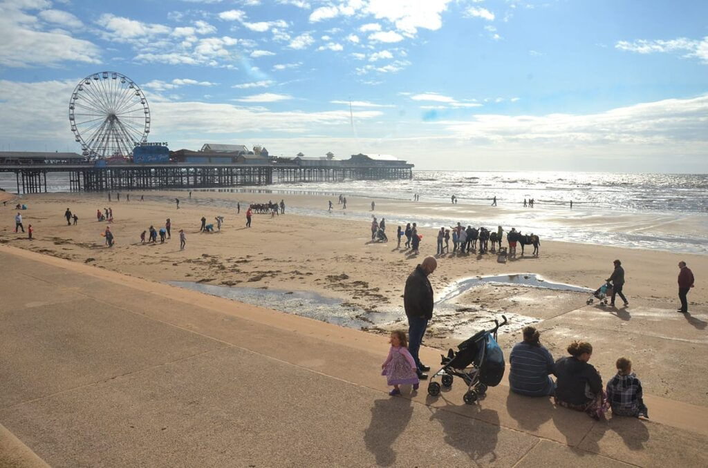 One of the beautiful Blackpool Beaches: Central promenade