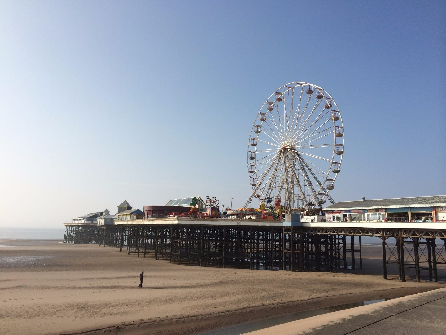Blackpool Central Pier and big wheel. Protecting Blackpool's Piers