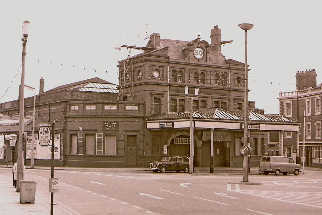 Blackpool Central Railway Station, before demolition in 1966