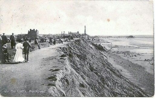 Blackpool Cliffs in the early 1900s