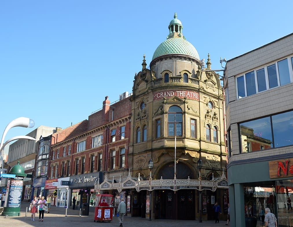 Blackpool Grand Theatre, at the heart of Blackpool town centre