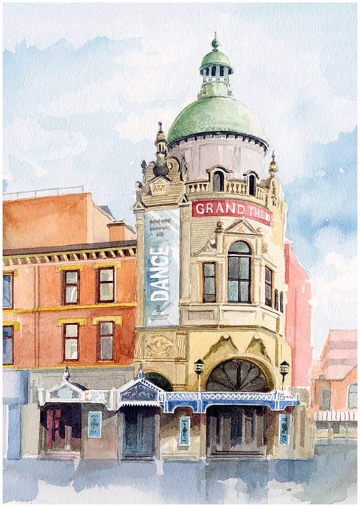Original watercolour painting of Blackpool Grand Theatre