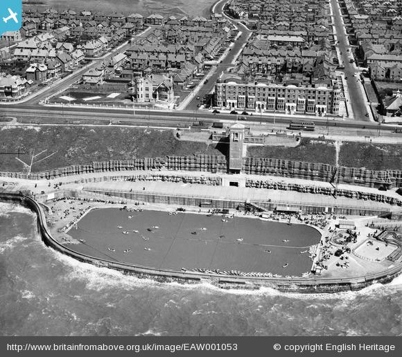 Blackpool North Shore Boating Pool. Credit Britain from Above