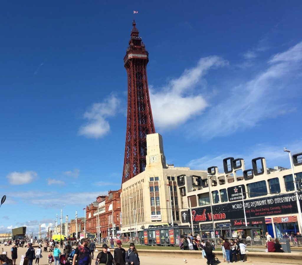 Palatine Building on the promenade. The site of the new Sands hotel and Blackpool Museum