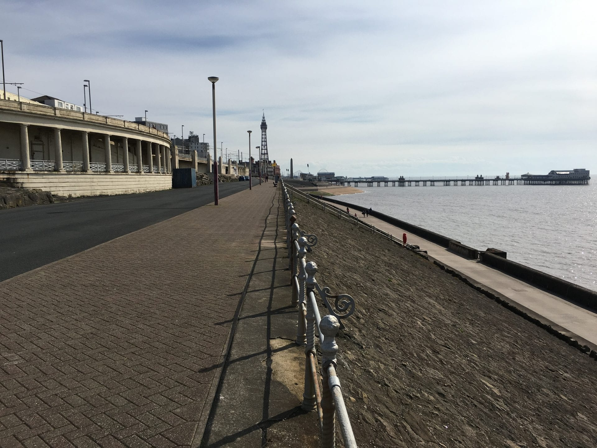 Colonnades and Blackpool North Pier