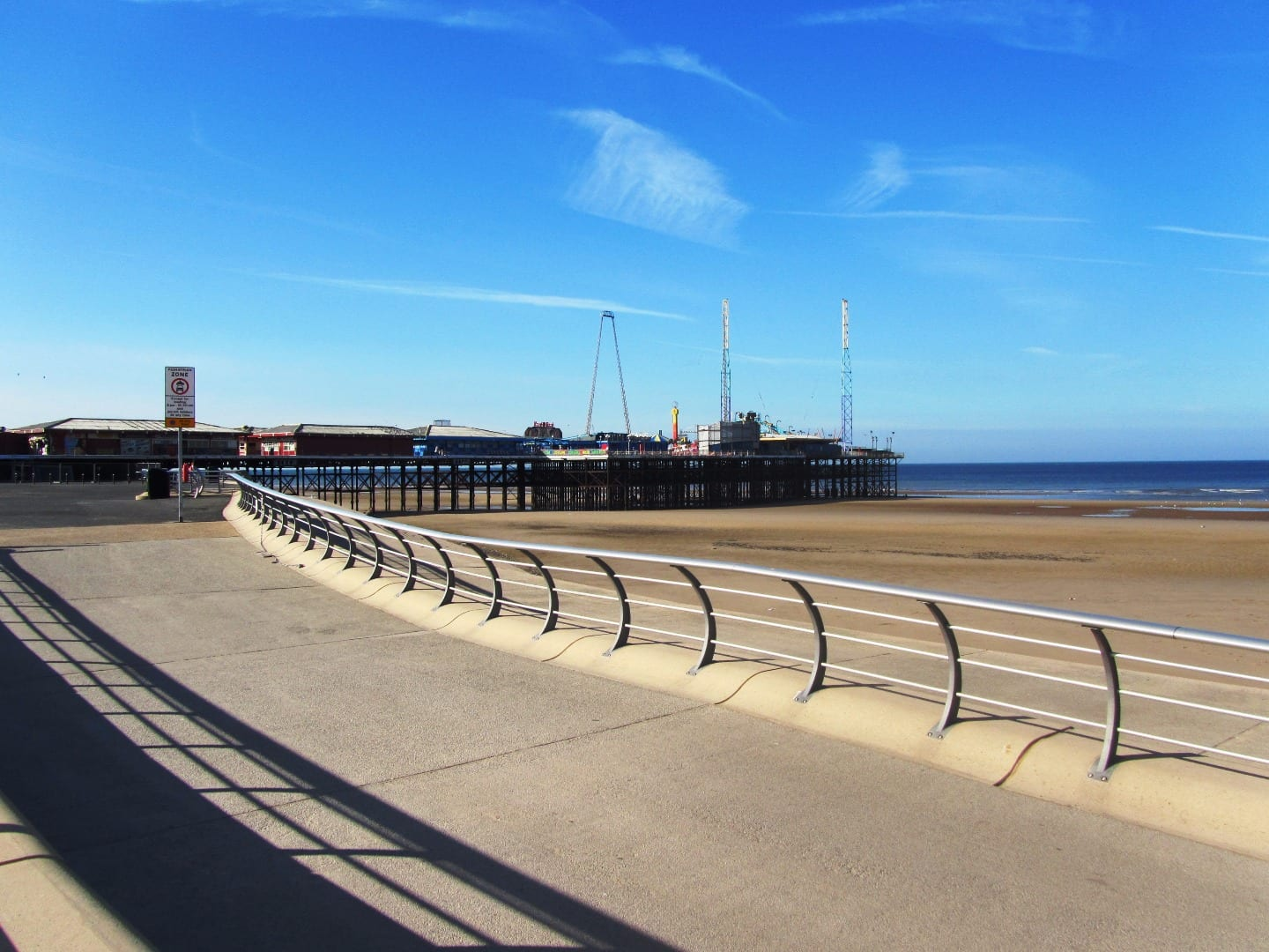 Blackpool South Pier, looking from Waterloo headland Protecting Blackpool's Piers