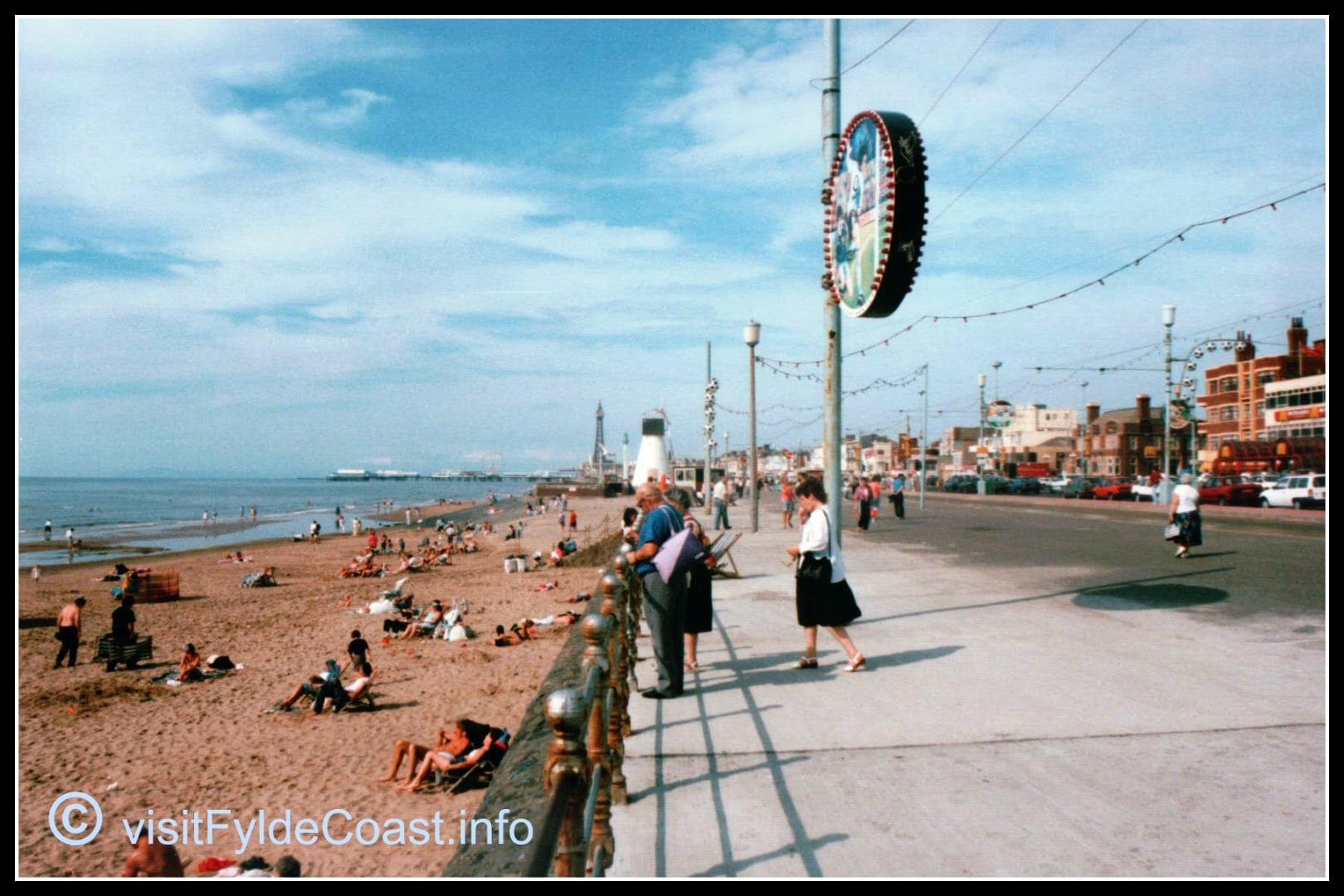 Blackpool South Promenade and windmill pumping station. Our Old Blackpool Photos - archives from Visit Fylde Coast
