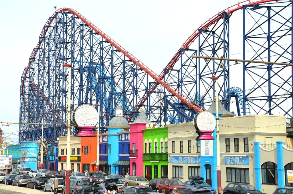 Shops at the Pleasure Beach at Blackpool South Shore