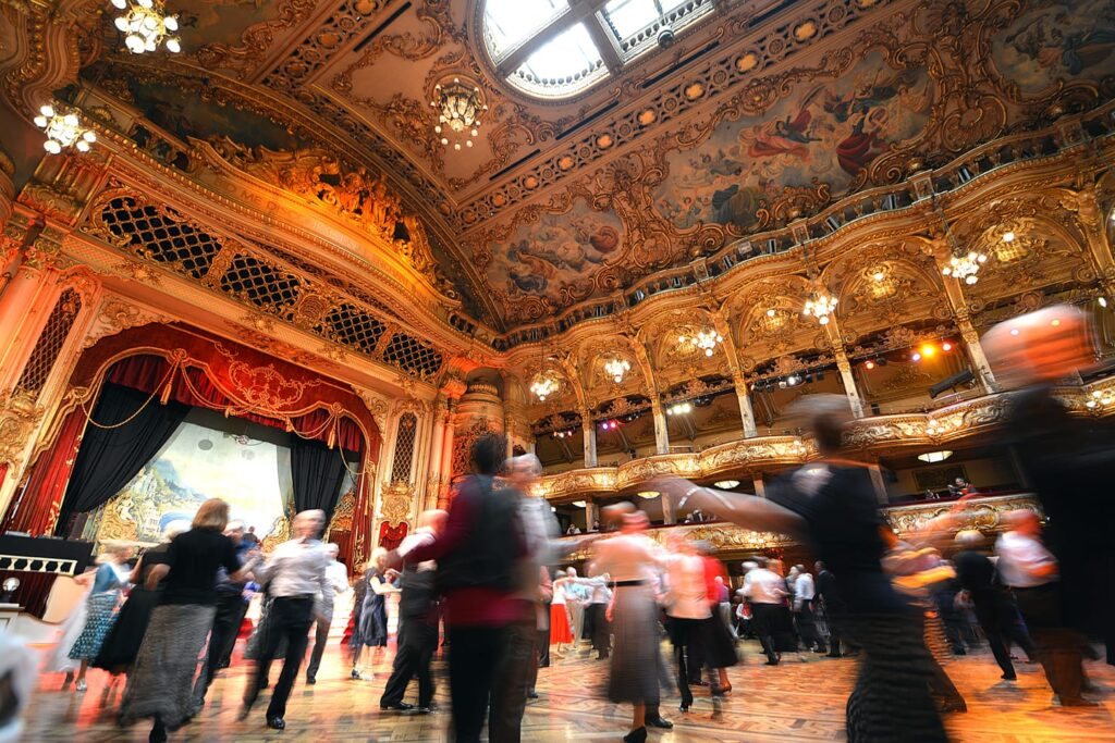 Ballroom dancing with Strictly Come Dancing at Blackpool Tower Ballroom